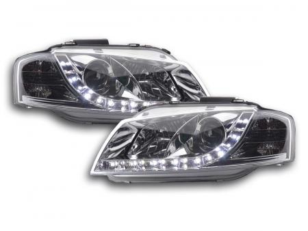 Scheinwerfer Set Daylight LED TFL-Optik Audi A3 Typ 8P Bj. 03-07 chrom
