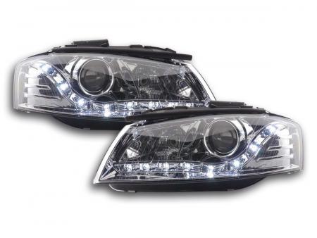 Scheinwerfer Daylight Audi A3 Typ 8P Bj. 03-07 chrom