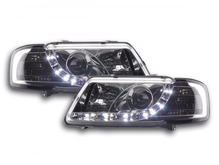 Scheinwerfer Set Daylight LED TFL-Optik Audi A3 Typ 8L Bj. 96-00 chrom