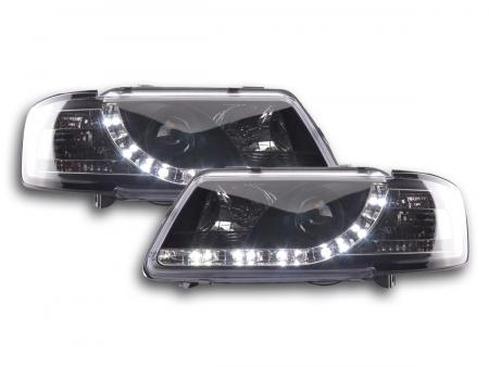 Scheinwerfer Set Daylight LED TFL-Optik Audi A3 8L Bj. 96-00 schwarz