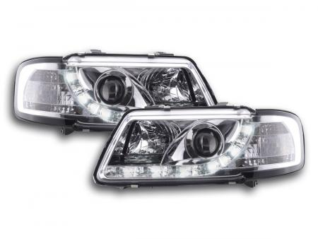 Scheinwerfer Set Daylight LED Tagfahrlicht Audi A3 Typ 8L Bj. 96-00 chrom