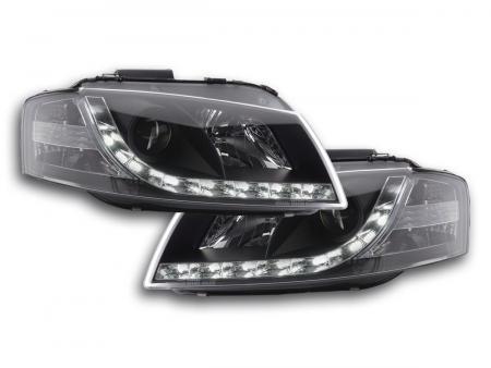 Scheinwerfer Set Daylight LED Tagfahrlicht Audi A3 Typ 8P Bj. 03-08 schwarz