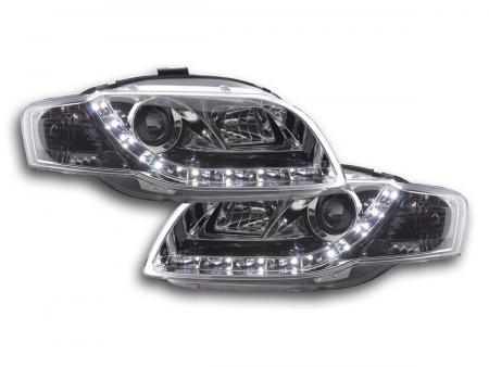 Scheinwerfer Set Daylight LED TFL-Optik Audi A4 Typ 8E Bj. 04-08 chrom