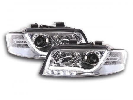 Scheinwerfer Set Daylight LED Tagfahrlicht Audi A4 Typ 8E Bj. 01-04 chrom