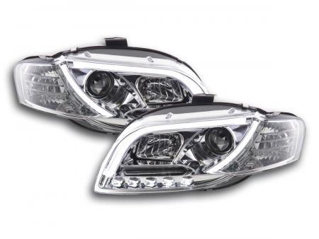Scheinwerfer Set Daylight LED Tagfahrlicht Audi A4 Typ 8E Bj. 04-08 chrom