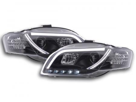 Scheinwerfer Set Daylight LED Tagfahrlicht Audi A4 B7 8E Bj. 04-08 schwarz