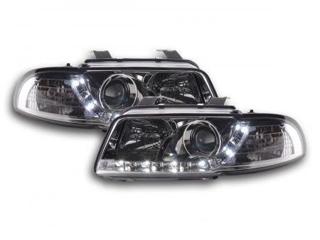Scheinwerfer Set Daylight LED TFL-Optik Audi A4 Typ B5 Bj. 95-99 chrom