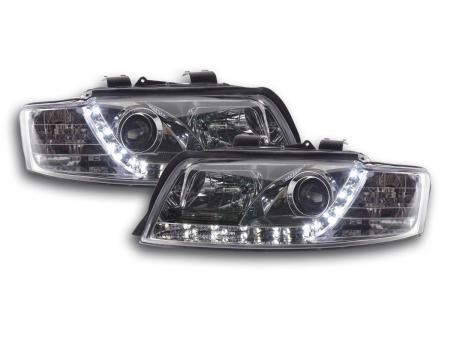 Scheinwerfer Set Daylight LED TFL-Optik Audi A4 Typ 8E Bj. 01-04 chrom