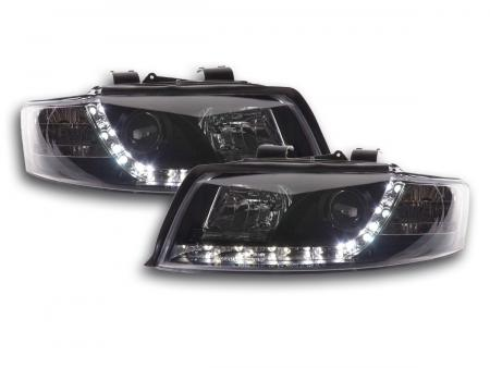 Scheinwerfer Set Daylight LED TFL-Optik Audi A4 Typ 8E Bj. 01-04 schwarz