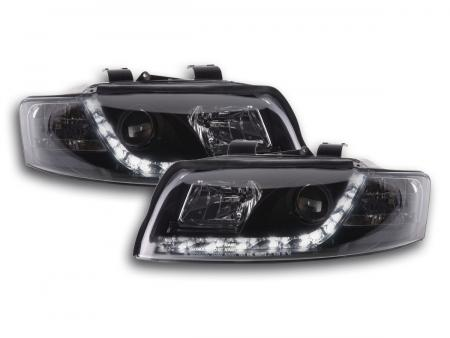 Scheinwerfer Set Daylight LED Tagfahrlicht Audi A4 Typ 8E Bj. 01-04 schwarz