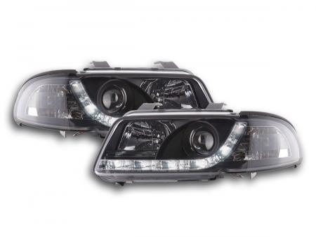 Scheinwerfer Set Daylight LED Tagfahrlicht Audi A4 B5 8D Bj. 99-01 chrom