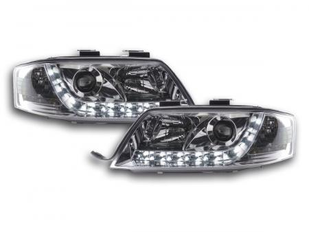 LED Tagfahrlicht Scheinwerfer Set Daylight  Audi A6 4B C5 97-00 chrom R87