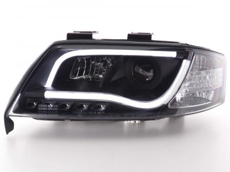Light Tube LED Tagfahrlicht Optik Scheinwerfer Set Audi A6 Typ 4B 97-01 schwarz