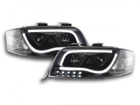 Light Tube LED Tagfahrlicht Scheinwerfer Set Audi A6 Typ 4B 01-04 schwarz R87