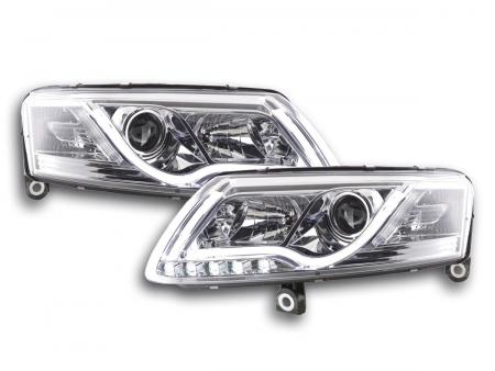 Light Tube LED Tagfahrlicht Scheinwerfer Set  Audi A6 4F C6 04-08 chrom R87