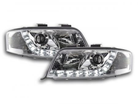 LED Tagfahrlicht Scheinwerfer Set Daylight Audi A6 4B C5 01-04 chrom R87
