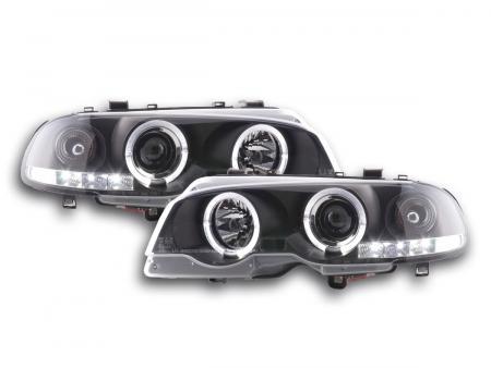 tuning shop scheinwerfer bmw 3er e46 coupe cabrio bj 98 02 schwarz online kaufen. Black Bedroom Furniture Sets. Home Design Ideas