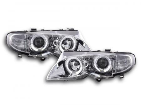 Scheinwerfer Set BMW 3er E46 Limo/Touring Bj. 02-05 chrom