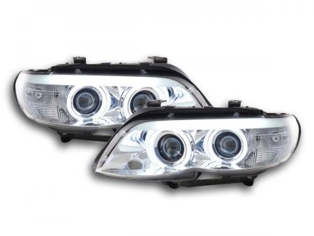 Scheinwerfer Set Xenon Daylight CCFL TFL-Optik BMW X5 E53 Bj. 03-06 chrom