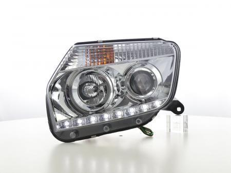 Scheinwerfer Set Daylight LED Tagfahrlicht Dacia Duster Bj. ab 2014 chrom