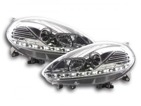 Scheinwerfer Set Daylight LED Tagfahrlicht Fiat Punto Evo Bj. 09- chrom