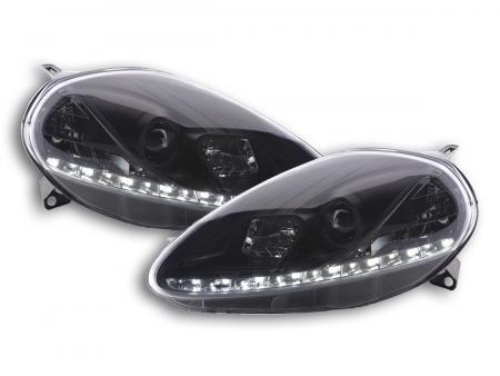 Scheinwerfer Set Daylight LED Tagfahrlicht Fiat Grande Punto 199 schwarz