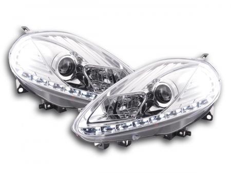 Scheinwerfer Set Daylight LED Tagfahrlicht Fiat Punto Evo Bj. 09-11 chrom