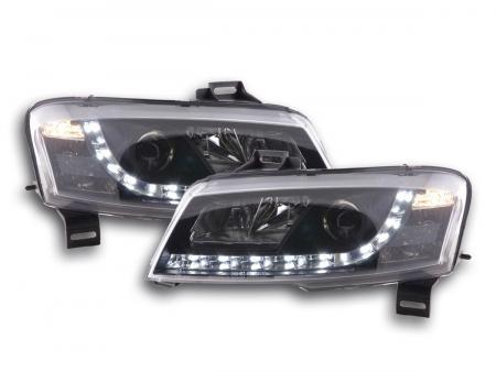 Scheinwerfer Set Daylight LED Tagfahrlicht Fiat Stilo Bj. 01-06 schwarz