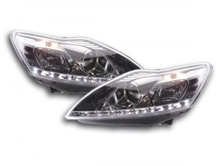 Scheinwerfer Set Daylight LED TFL-Optik Ford Focus 3/5-trg. Bj. 08- chrom