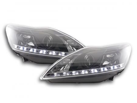Scheinwerfer Set Daylight LED TFL-Optik Ford Focus 3/5-trg. Bj. 08- schwarz