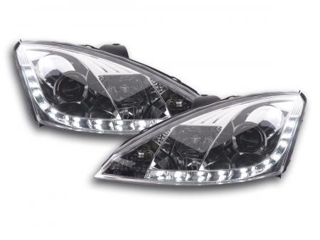 Scheinwerfer Set Daylight LED Tagfahrlicht Ford Focus 1 C170 chrom