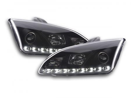 Scheinwerfer Set Daylight LED Tagfahrlicht Ford Focus 2 C307 schwarz