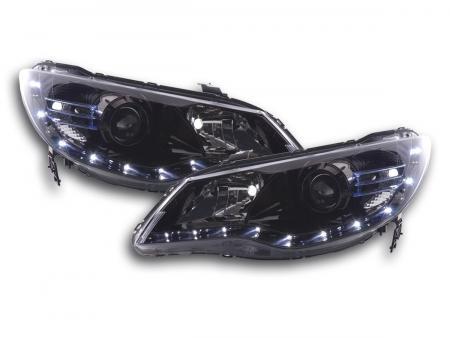 Scheinwerfer Set Daylight LED TFL-Optik Honda Civic Hybrid Bj. 07- schwarz