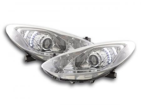 Scheinwerfer Set Daylight LED TFL-Optik Mazda 2 chrom