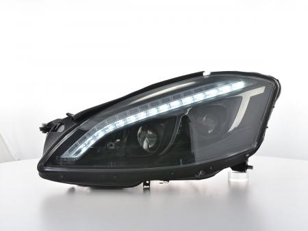Scheinwerfer Set Xenon Daylight LED TFL-Optik Mercedes-Benz S-Klasse (221) Bj. 05-09 schwarz