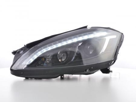 Scheinwerfer Set Daylight LED TFL-Optik Mercedes-Benz S-Klasse (221) Bj. 05-09 schwarz