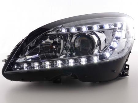 Scheinwerfer Daylight Mercedes C-Klasse Typ W204 Bj. 07-10 chrom