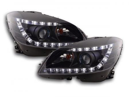 Scheinwerfer Daylight Mercedes C-Klasse Typ W204 Bj. 07-10 schwarz