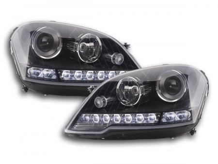 Scheinwerfer Daylight Mercedes ML-Klasse 164 Bj. 08-11 schwarz