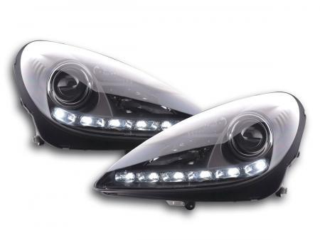 Tagfahrlicht Xenon Scheinwerfer Daylight Mercedes SLK R171 schwarz