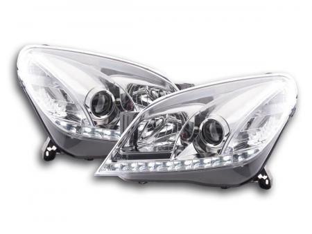Scheinwerfer Set Daylight LED Tagfahrlicht Opel Astra H Bj. 04-09 chrom