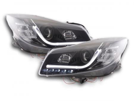 Scheinwerfer Set Daylight LED Tagfahrlicht Opel Insignia Bj. ab 2008 schwarz