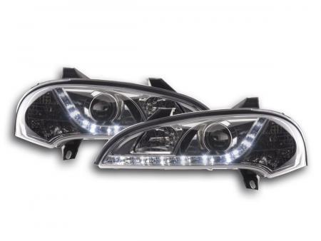 Scheinwerfer Set Daylight LED TFL-Optik Opel Tigra Bj. 95-03 chrom