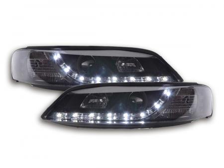 Scheinwerfer Set Daylight LED TFL-Optik Opel Vectra B Bj. 96-99 schwarz