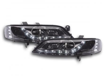 Scheinwerfer Set Daylight LED TFL-Optik Opel Vectra B Bj. 99-02 chrom