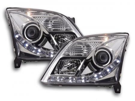Scheinwerfer Set Daylight LED TFL-Optik Opel Vectra C Bj. 02-05 chrom