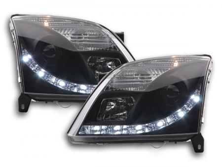 Scheinwerfer Set Daylight LED Tagfahrlicht Opel Vectra C Bj. 2002-2005 schwarz