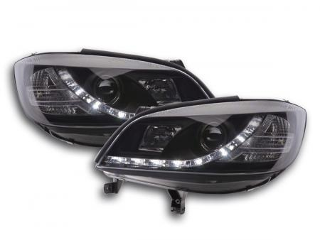 Scheinwerfer Set Daylight LED TFL-Optik Opel Zafira A Bj. 99-04 schwarz