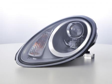 headlights Xenon Daylight LED DRL look Porsche Boxster (987) Yr. 04-08 silber