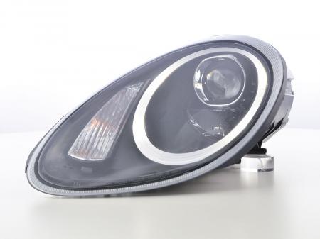 Scheinwerfer Xenon Daylight LED TFL-Optik  Porsche Boxster Typ 987 Bj. 04-09 schwarz